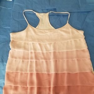 Lovely peach shades  chiffon T back top